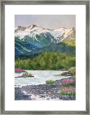 Glacier Creek Summer Evening Framed Print by Sharon Freeman