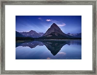 Glacier Park Reflection Framed Print by Andrew Soundarajan