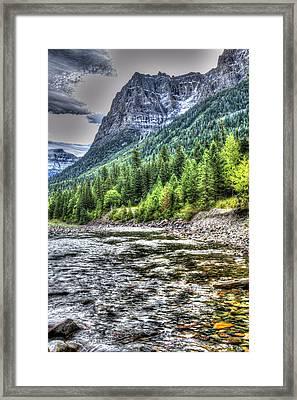 Glacier Stream Framed Print by Mark Bowmer