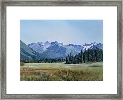 Glacier Valley Meadow Framed Print by Sharon Freeman