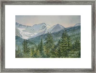 Glacier Valley Morning Sky Framed Print by Sharon Freeman