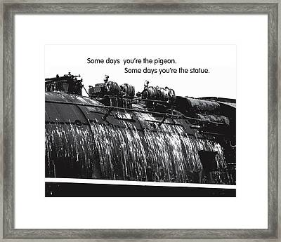 Glad Cows Don't Fly Framed Print by Mike Flynn