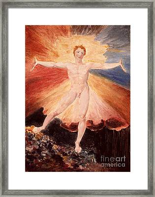 Glad Day Or The Dance Of Albion Framed Print by William Blake