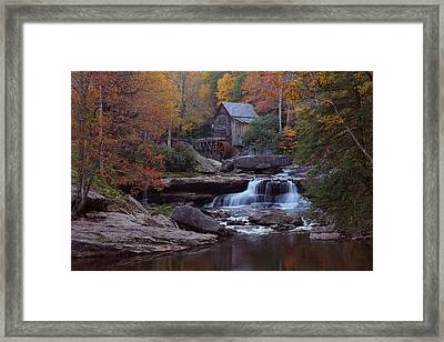 Glade Creek Grist Mill In Autumn Framed Print by Jetson Nguyen