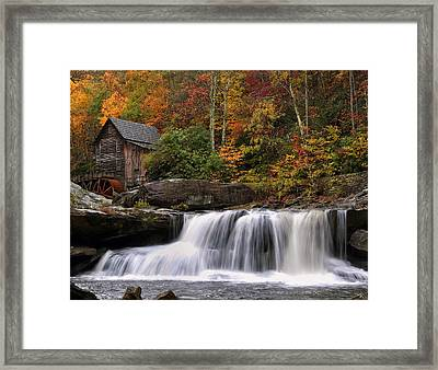 Glade Creek Grist Mill - Photo Framed Print by Chris Flees