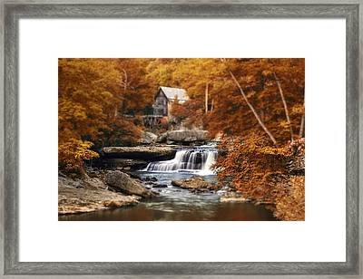 Glade Creek Mill Selective Focus Framed Print by Tom Mc Nemar