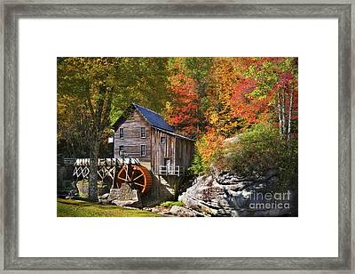 Glade Creek Mill Framed Print by T Lowry Wilson