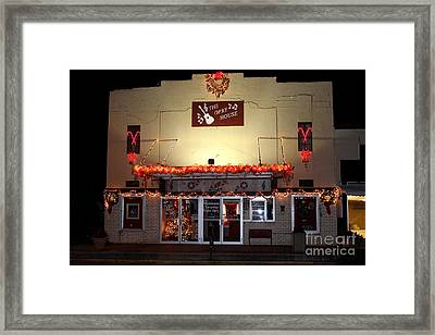 Gladewater Opry House Framed Print by Kathy  White