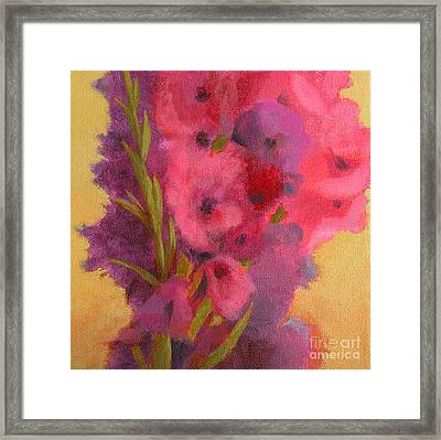 Gladiolas No. 1 Framed Print by Melody Cleary