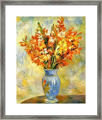 Gladioli Framed Print by Pierre-Auguste Renoir