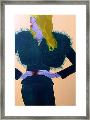 Glam #2 Framed Print by Mary Nyiri