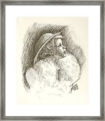 Glamor Child Framed Print by Art By - Ti   Tolpo Bader