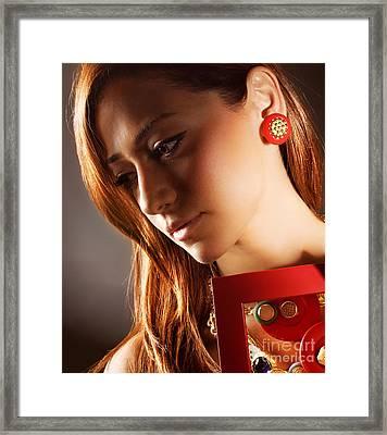 Glamorous Girl Framed Print by Anna Omelchenko