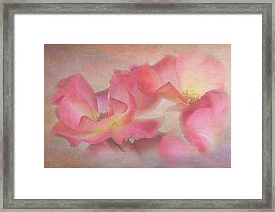 Glamour Roses Framed Print by Angie Vogel