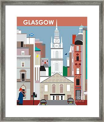 Glasgow Framed Print by Karen Young