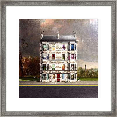 Glasgow Tenements Framed Print by Michael  Murray