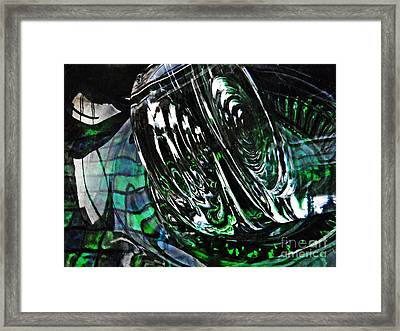 Glass Abstract 415 Framed Print by Sarah Loft
