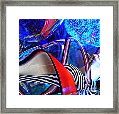 Glass Abstract 503 Framed Print by Sarah Loft