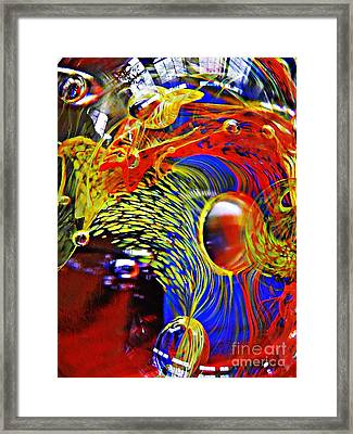 Glass Abstract 630 Framed Print by Sarah Loft