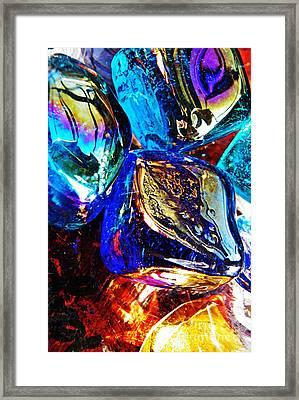 Glass Abstract 687 Framed Print by Sarah Loft