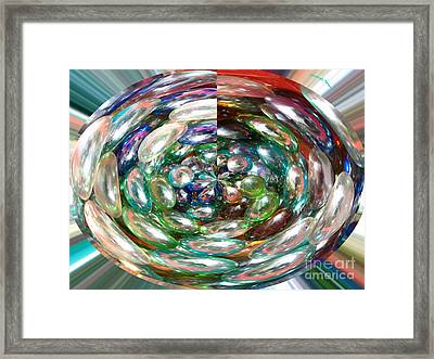 Glass Beads Framed Print by Cheryl Young