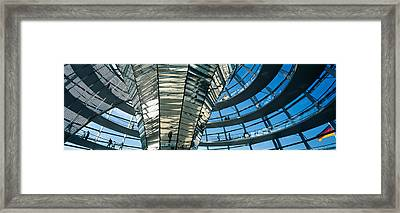 Glass Dome Reichstag Berlin Germany Framed Print by Panoramic Images