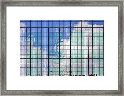 Glass Facade Houston Tx Framed Print by Christine Till