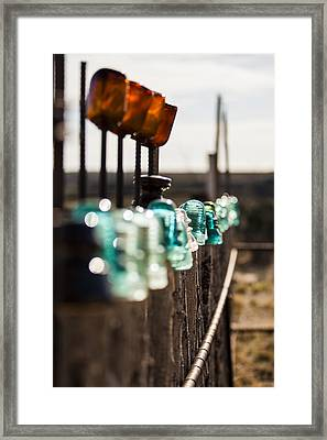 Glass Fence Framed Print by Amber Kresge