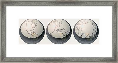 Glass Globes Framed Print by Panoramic Images