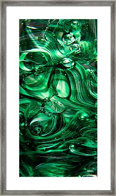 Glass Macro Abstract Egw Framed Print by David Patterson