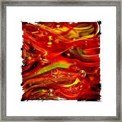 Glass Macro Abstract Rf1ce Framed Print by David Patterson