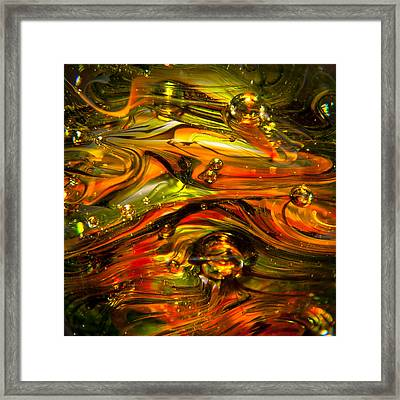 Glass Macro Abstract Rgo1sq Framed Print by David Patterson