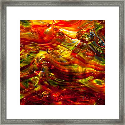 Glass Macro - Burning Embers Framed Print by David Patterson