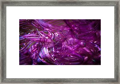 Glass Macro - Deep Pinks IIi Framed Print by David Patterson