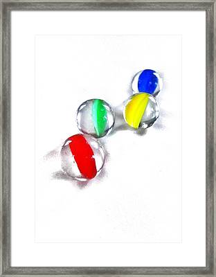 Glass Marbles Framed Print by Marianna Mills
