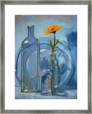 Glass Framed Print by Nancy Merkle