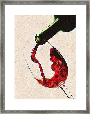 Glass Of Red Wine Framed Print by Georgi Dimitrov