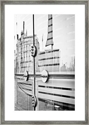 Glass Panels And Reflections Framed Print by Tom Gowanlock
