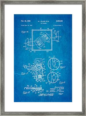 Glass Rock Em Sock Em Robots Toy Patent Art 2 1966 Blueprint Framed Print by Ian Monk