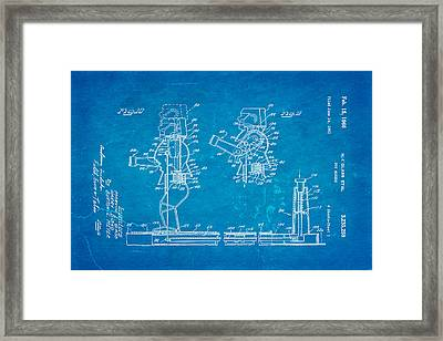 Glass Rock Em Sock Em Robots Toy Patent Art 3 1966 Blueprint Framed Print by Ian Monk
