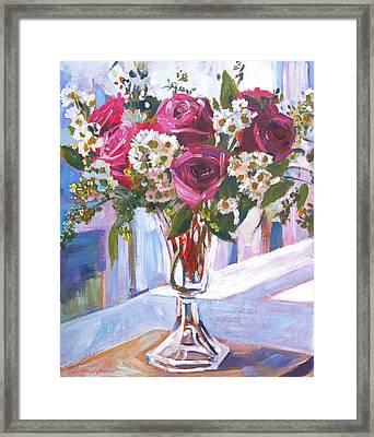 Glass Roses Framed Print by David Lloyd Glover