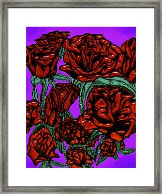 Glass Roses On Parade Framed Print by Tiffany Selig