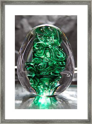 Glass Sculpture Egw  Framed Print by David Patterson