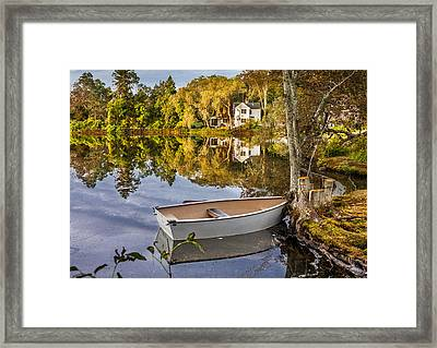 Glass Water Framed Print by Dean Martin