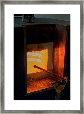 Glassblower's Furnace Framed Print by Photostock-israel