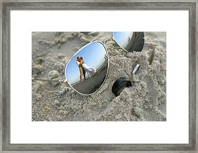 Glasses Framed Print by Andrew Johnson