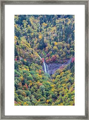 Glassmine Falls Up Close Framed Print by John Haldane