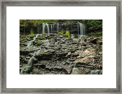 Glassy Rocks At Mohawk Framed Print by Adam Jewell