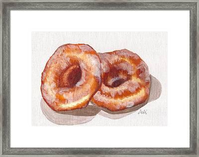 Glazed Donuts Framed Print by Debi Starr