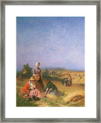 Gleaning Framed Print by George Elgar Hicks